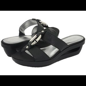 Calvin Klein Yazmin Cutout Wedge Sandals, Sz 8